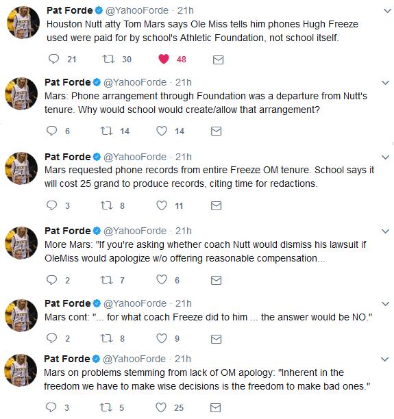 Forde tweets July 31 2017