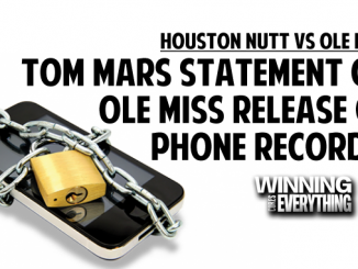 Tom Mars response to Ole Miss records release