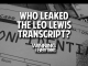 Who Leaked the Leo Lewis NCAA Transcript?